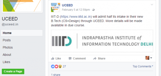 IIT Delhi to intake 50% students in BTech (CS+Design) from UCEED 2017