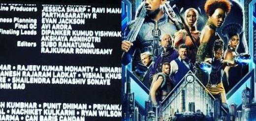 BLACK PANTHER Final QC credits Avi Arora (our student)